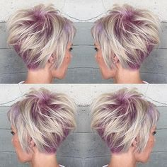 Cotton Candy Rooted Pixie... By Alexis @alexisbutterflyloft at @butterflyloftsalon