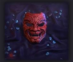 Red Samurai mask 2