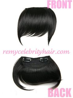 Remy Celebrity Indian And European Straight Hair Clip In Bangs