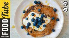 Awesome Vegan Blueberry Pancakes | Tim Shieff from www.recipesoftheday.com