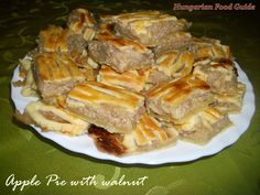 Hungarian Food Guide: Apple Pie with walnut