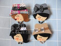 Felt Diy, Felt Crafts, Sewing Toys, Sewing Crafts, Hobbies And Crafts, Arts And Crafts, Felt Headband, Wool Embroidery, Gift Bows