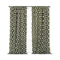 Threshold Farrah Southwest Curtain Panel - Olive (32 CAD) ❤ liked on Polyvore featuring home, home decor, window treatments, curtains, green, target curtains, southwest curtains, threshold window panel, southwestern curtains и southwest home decor