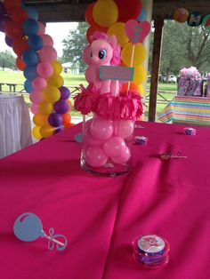 One of a kind My Little Pony centerpiece, unique! Plush toy included. Twilight