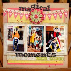 Magical moments: Disney scrapbook layout