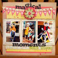 Magical moments: Disney scrapbook layout