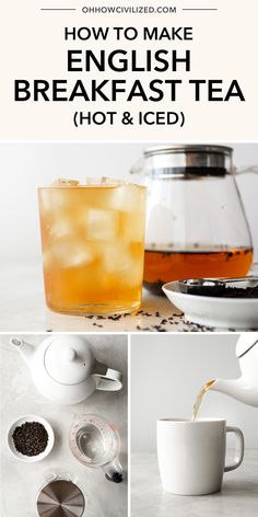 Whether hot or iced, English breakfast tea is one of the most popular teas in the world. See how to make this tea properly. My step by step guide is perfect for brewing the perfect cup of tea every time! Milk Tea Recipes, Iced Tea Recipes, Caffeine In Tea, Iced Tea Maker, Peach Ice Tea, English Breakfast Tea, Morning Drinks, Perfect Cup Of Tea, Tea Drinks