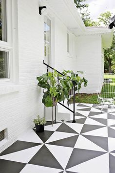 40 Stunning Painted Floor Tiles For Patio Decor Ideas Getting a fresh out of the box new search for your patio has never been simpler. Patios are normally utilized as zones for individual unwinding and diversion, or in some [Continue Read] Patio Decor, Painting Concrete, Painted Floor, Outdoor Patio Decor, Patio Flooring, Patio Tiles, Paint Concrete Patio, Outdoor Flooring, Painting Tile Floors
