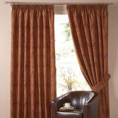 Terracotta Novello Curtain Collection   Dunelm