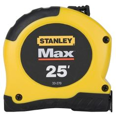 "Stanley Hand Tools 33-279 Max 1-1/8"" X 25' Tape Measure"