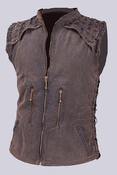 Steampunk Vest Organic Cotton Canvas Festival Wear Burner Vest