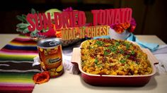 RICOS RECIPE: Sun Dried Tomoato Mac n Cheese using the tasty Ricos Premium Cheddar Cheese Sauce.