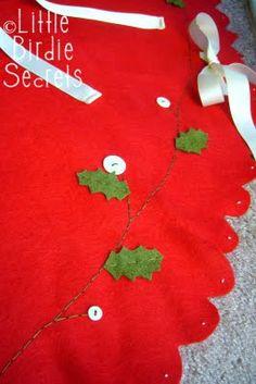 felt Christmas tree skirt - inspiration for small tree