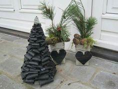 Julepyntede krukker