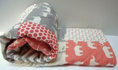 Baby Girl QuiltModern Baby BeddingBirch by NowandThenQuilts, $110.00