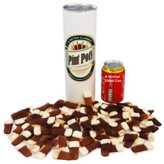 This giant can holds a whopping pint of beer flavoured sweets, making it the perfect present for your dad this Father's Day, Christmas or even Birthday.  Made of card and standing just under 1 foot tall, the Pint of Beer Sweets can has a real ring pull top and is the perfect gift for any beer lover in your life.