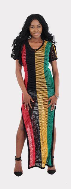 8fec3ead28 Mesh Rasta Dress - This sleek and comfortable rasta dress is the perfect  accompaniment to the