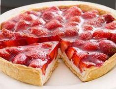 Tarta de yogur y fresas | Comparterecetas.com