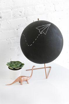 MY DIY   Copper Chalkboard Globe   I SPY DIY