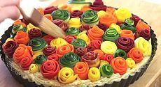 Sebze gül Pie - inanılmaz, ama hazırlamak çok kolay!  |  Dört tat