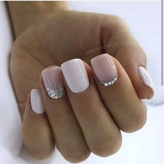130 glitter gel nail designs for short nails for spring 2019 page 20 . - 130 glitter gel nail designs for short nails for spring 2019 page 20 – … – - Glitter Gel Nails, Cute Acrylic Nails, Cute Nails, Pretty Nails, My Nails, Shellac Nails, Pretty Short Nails, Gel Manicures, Prom Nails