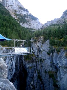 Canyon jumping in Interlaken, Switzerland. Amazing experience, but will never have the courage to do that again!