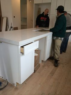 4.3 kitchen counter top, took 5 guys to bring it in