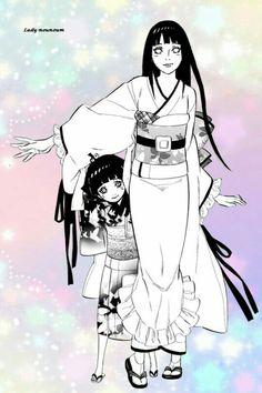 Hyuuga Hinata and Uzumaki Himawari naruto