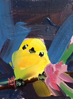How Clean Oil Painting Bird Artists, Yellow Bedding, Painting Still Life, Impressionism, Art Drawings, Pikachu, Birds, Graphic Design, The Originals