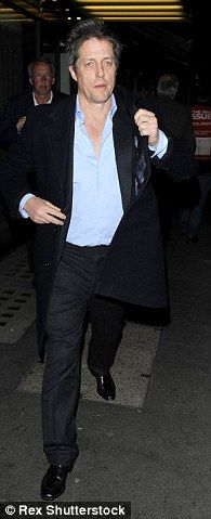 Hugh Grant looks dapper in a suit as he is spotted leaving Cecconi's restaurant Firehouse Restaurant, Hugh Grant, Looking Dapper, Actors & Actresses, Mens Fashion, Suits, Moda Masculina, Man Fashion, Suit