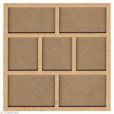 Forma de madera Marco de fotos - 31 cm - Fotografía n°1