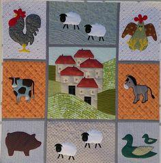 Πάπλωμα με τα ζώα της φάρμας σε στυλ TiFi