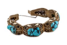 turquoise is my healing stone!  i would love to wear this!  TONY DUQUETTE JEWELRY  Antique Chinese Turquoise Bracelet