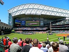 Minute Maid Park, home of the Astros.  Houston, Texas.