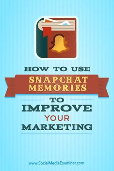 Ever want to share pictures from your camera roll on Snapchat? Snapchat now lets you publish multiple snaps and pictures from your camera roll in a single story-like Memory. In this article, you'll discover how to use Snapchat Memories to publish more content on Snapchat. Via /smexaminer/.