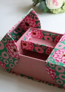 Amazing DIY Decorative Boxes Ideas You Will Love For Sure Cardboard Furniture, Cardboard Crafts, Foam Board Crafts, Fabric Boxes, Fabric Basket, Fabric Storage, Paper Purse, Origami Envelope, Cute Box