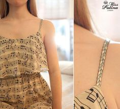 Adorable music print dress. Love it!