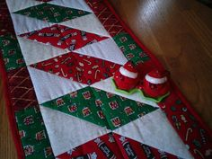 Hand Made Quilted Christmas Table Runner by sweetpeaspantry
