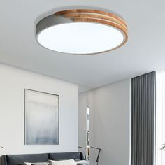 Square Ceiling Lights, Round Ceiling Light, Grey Ceiling, Flush Ceiling Lights, Flush Mount Ceiling, Ceiling Light Fixtures, Bedroom Ceiling Lights, Bedroom Door Design, Wooden Decor