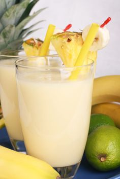 Tasty pineapple morning smoothie