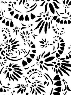 Alabama Chanin offer stencil patterns for free