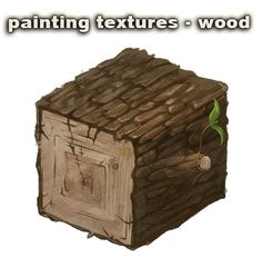 painting textures - wood - video by vesner.deviantart.com on @deviantART
