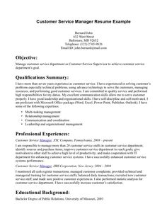 Resume Examples Customer Service And Resume On