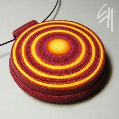 Red Spiral pendant by E.H.design