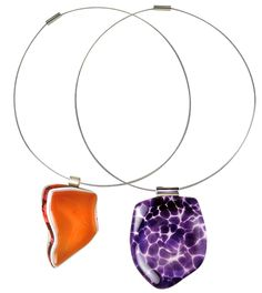 Recycled Graphic Glass Pendants by Modern Organic Design | #EcoFashion Jewelry