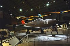 DAYTON, Ohio -- Bell P-39Q Airacobra in the World War II Gallery at the National…