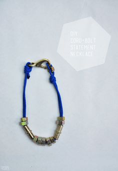 DIY Cord + Bolt statement necklace