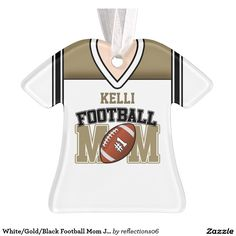 White/Gold/Black Football Mom Jersey