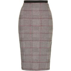 TOPSHOP Prince Of Wales Checked Tube Skirt ($15) ❤ liked on Polyvore featuring skirts, multi, tube skirt, grey skirt, topshop, black tube skirt and gray skirt