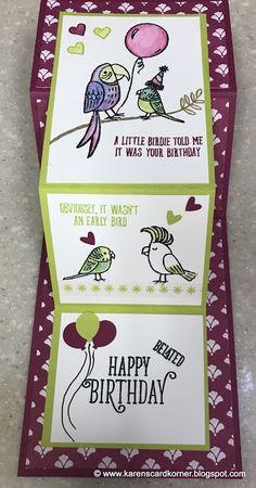 karenscardkorner: Stampin' Up! Bird Banter Birthday